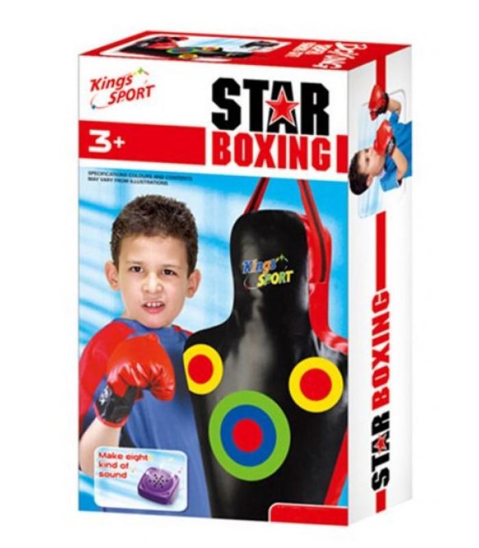 """Боксёрский набор со звуковыми эффектами """"Boxing Star"""" KingSport (GT175326) для детей от 3 лет, King boxing в Украине, Чемпионский набор"""