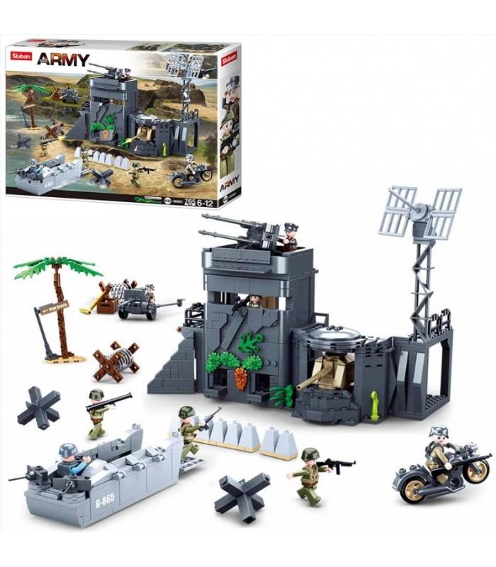 Детский конструктор аналог Лего Военная база, 765 деталей, M38-B0861