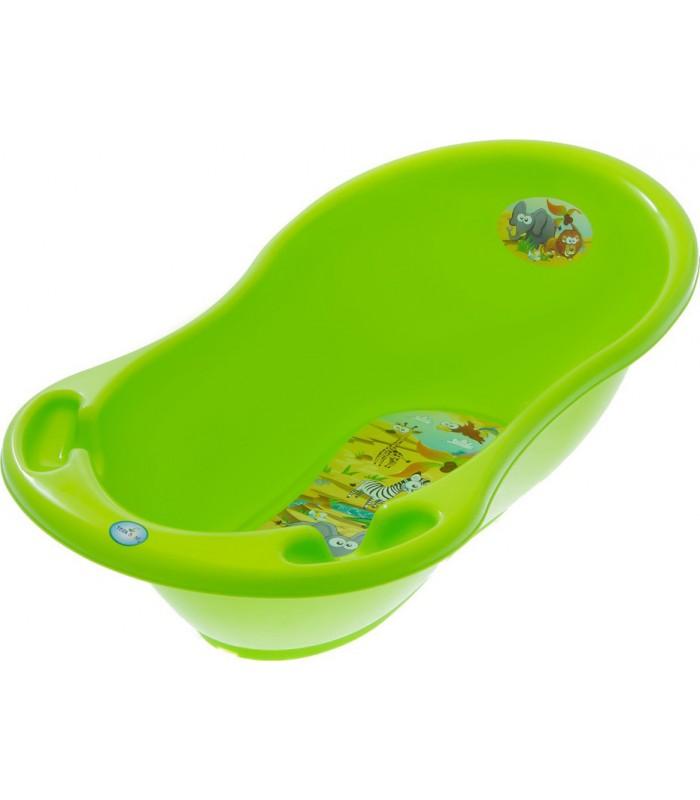 Ванночка детская с термометром для купания малышей, 86 см, SF-004, для детей от рождения, Пакет малюка, Детская ванная анатомической формы
