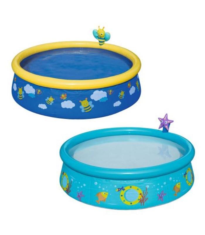 Бассейн надувной круглый с фонтанчиком детский, 477 литров, Bestway 57326, для детей от 2 лет, Пакет малюка, Подарок для ребенка