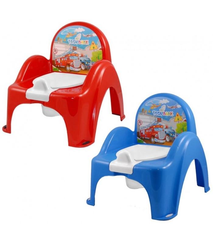 Горшок-стульчик детский музыкальный Машинки, Tega PO-053, для детей от 9 месяцев